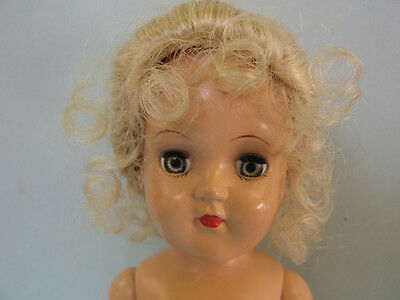 1949's Toni Doll 35 cm. By Ideal Toy Co. P-90 Hard Plastic Vintage  Doll.