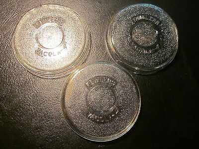 OLD VINTAGE FOWLERS VACOLA 4 inch GLASS PRESERVING LIDS x 3