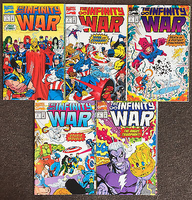 Infinity War # 1 2 3 4 6 Marvel Comics Nm Lot Thanos Warlock Gauntlet