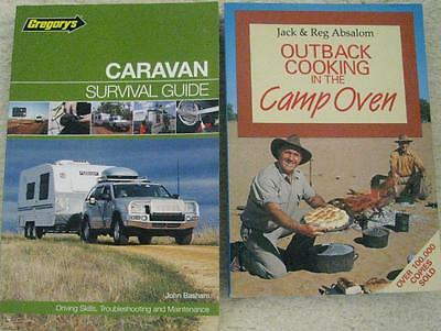 GREGORYS CARAVAN SURVIVAL GUIDE + OUTBACK COOKING IN THE CAMP OVEN x 2 books