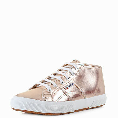 WOMENS SUPERGA 2754 Cotmetw Rose Gold Mid Top Trainers Shu Size -  89.99  aff8f6a9ed