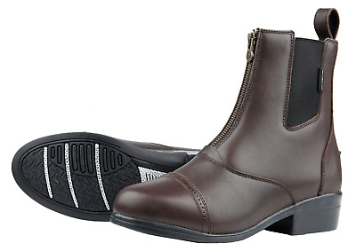 Dublin Apex Adults Horse Riding Zip Paddock Boots - Brown