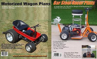 Motorized Wagon Gokart Plans & Bar Stool Racer Plans Step By Step