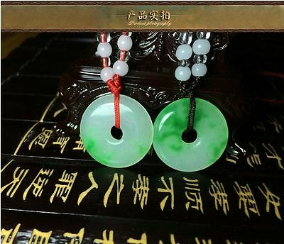 10Pcs Natural Chinese beautiful jade hand-carved Lucky Jade pendant bring peace