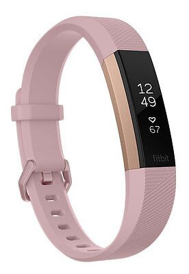 FITBIT - Alta HR Fitness Wristband Soft Pink / Rose Gold - Small - FB408RGPKS