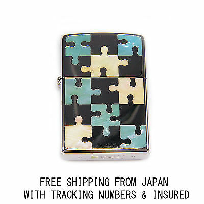 Mother Of Pearl Inlay Puzzle Design Authentic Zippo Japan Limited Model