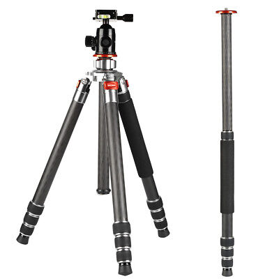Carbon Fiber Camera Tripod Monopod Heavy Duty for Canon Nikon DSLR KF Concept