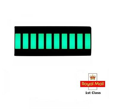 Adafruit 10 Segment Light Bar LED Display - GREEN