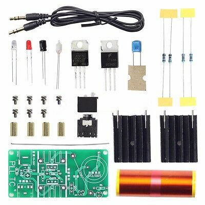 Mini Tesla Coil Plasma Electric Arc Electronic DIY Kit Music Play 15-24V/2A 15W