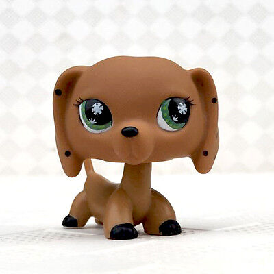 monopoly Dog Littlest Pet Shop LPS Toys Dachshund snowflake Eyes no magnet