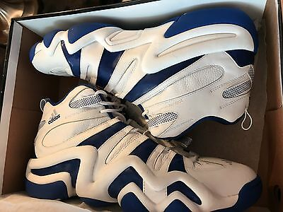 New  Adidas Crazy 8 Basketball  Men's Shoes   White/royal , Us  Size 19
