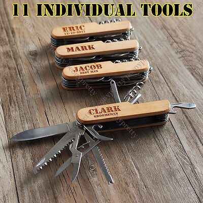 Personalized Engraving Pocket Knife Custom Multi tool Knives Groomsmen gift a