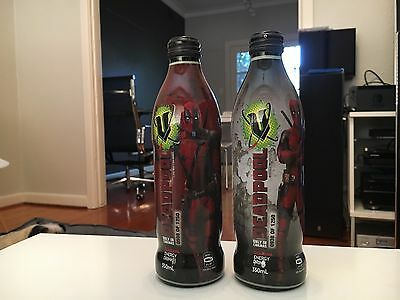 DEADPOOL Limited Edition V Energy Drinks x 2 - Marvel - Numbered & Sealed!