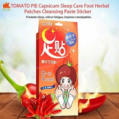 TOMATO PIE Capsicum Sleep Care Foot Herbal Patches Cleansing Paste Sticker AA