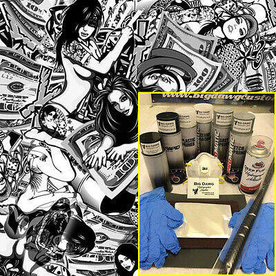 Hydro dipping Hydrographics home starter Dip Kit - Gold Diggers (DK-PIN04)