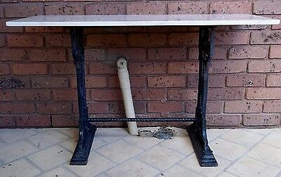 Marble Topped Victorian Cast Iron Garden Table , pick up in Geelong