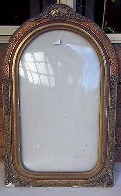 Art Deco Portrait Frame with Domed Glass for Restoration