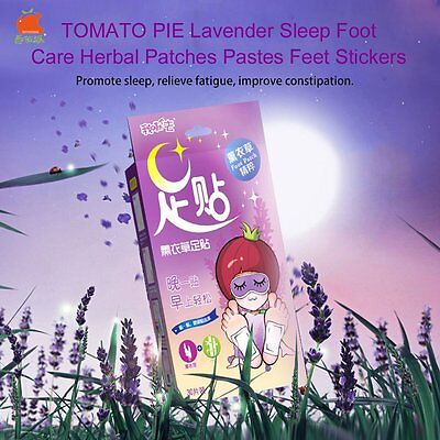TOMATO PIE Lavender Sleep Foot Care Herbal Patches Pastes Feet Stickers AU