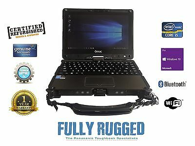 GETAC V110 Fully Rugged Convertible i5 , 8GB, 128GB M.2 SSD Win 10 Pro, 4G Strap