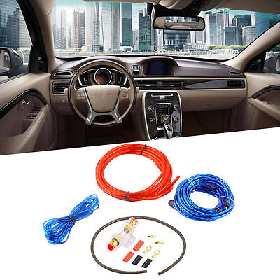 800W 8GA Car Audio Subwoofer Amplifier AMP Wiring Fuse Holder Wire Cable Kit LO