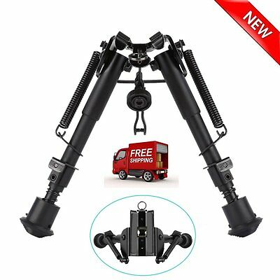 6-9 Inch Adjustable Handy Spring Return Sniper Hunting Tactical Rifle Bipod LO