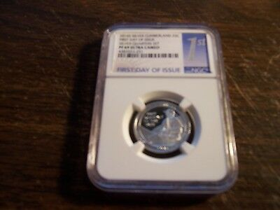 Ngc-2016-S Silver 25C Pf69 Uc-Cumberland-Rare First Day Of Issue Slab-Clean