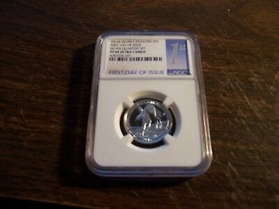 Ngc-2016-S Silver 25C Pf69 Uc-F Moultrie-Rare First Day Of Issue Slab-Clean