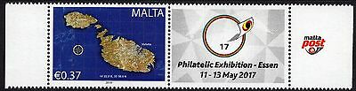 Malta 2017 Se-Tenant Philatelic Exhibition 11th - 13th May Essen Unmounted Mint