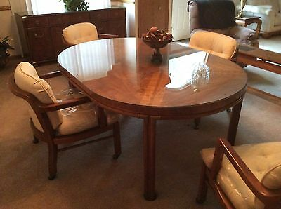 Mid Century Modern Hollywood Regency Drexel Heritage Accolade Dining Set 7pcs