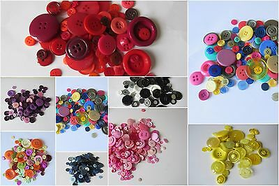 50G Bag Assorted  Buttons Plastic Choice Of Colours Mixes