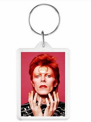 David Bowie Key Ring 50 x 35mm. Donation made to Charity.