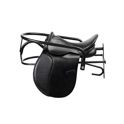 Horze Storage Lockable Horse/Pony Saddle Rack - Black - Stable Accessories