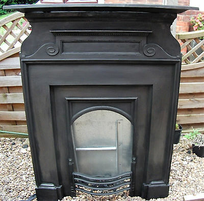 Victorian/edwardian Cast Iron Fireplace.