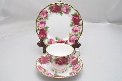 Vintage Royal Albert Old English Rose Trio Cup Saucer Plate
