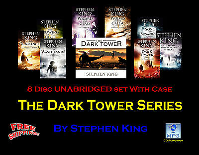 The DARK TOWER SERIES - By Stephen King -  MP3 CD 8 Disc UNABRIDGED Set In Case