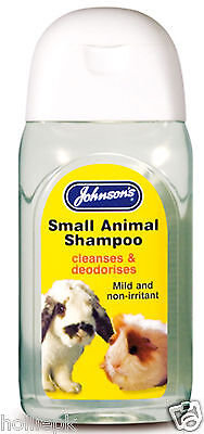 RABBIT GUINEA PIG FERRET RAT MILD SMALL ANIMAL SHAMPOO CLEANS & DEODORISES 125ml