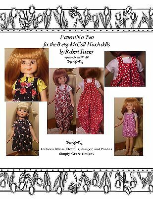 Basic Wardrobe for the 14 inch Betsy McCall Dolls Clothes Sewing Pattern