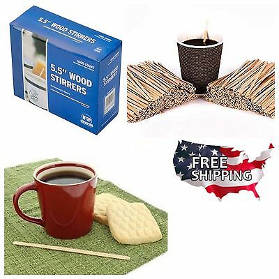 5.5 Coffee Stirrers Royal 1000 Count Wooden Craft Popsicle Beverage Stir Sticks
