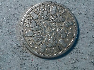 Great Britain Sixpence 6 pence 1928 Wedding coin silver George V