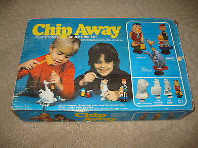 Vintage  Flintstones Toy Chip Away Sculpture Set With Box