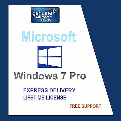 Original Windows 7 Pro 32/64-Bit Oem Genuine Coa License Key