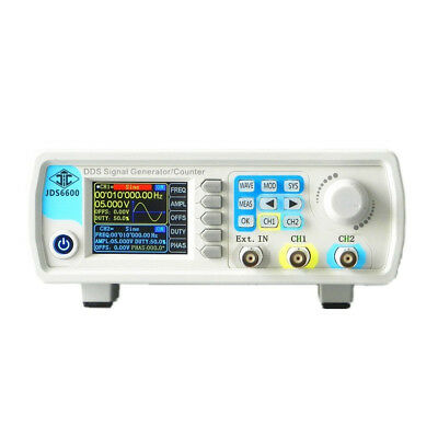 New 8MHz LCD Dual Chanel Arbitrary Wave DDS Signal Generator Pulse Signal Source