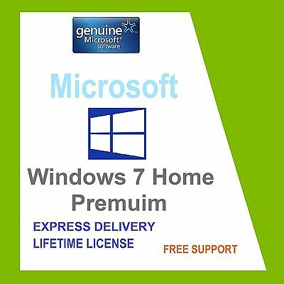 SCRAP PC with ORIGINAL WINDOWS 7 HOME 32/ 64-BIT OEM GENUINE COA LICENSE KEY