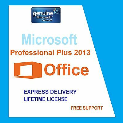 SCRAP PC with ORIGINAL OFFICE PROFESSIONAL PLUS 2013 32/64-BIT LICENSE KEY