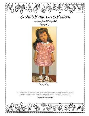 Basic Dress Pattern for the 16 in Sasha Doll ~ Simply Grace Designs