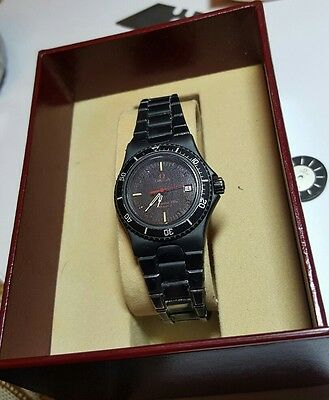 Omega Seamaster 120m Ladies Stainless Steel Quartz Watch Black dial