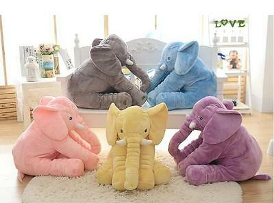 Large Long Nose Elephant Sleep Pillow Baby Plush Toy Lumbar Cushion Doll