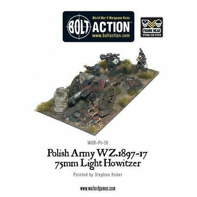 Polish Army 75mm Light Artillery - Bolt Action - Warlord Games