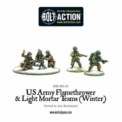 [Bolt Action] US Army Flamethrower & Light Mortar teams (Winter) - Warlord Games