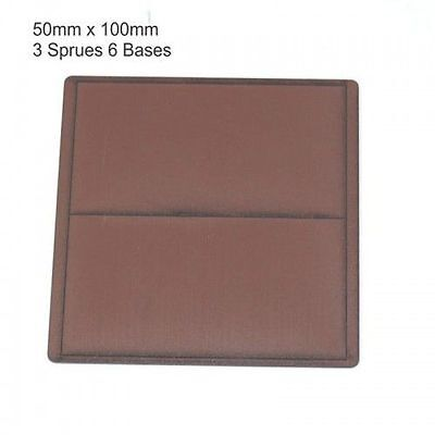 50mm x 100mm Bases (6 x Brown)